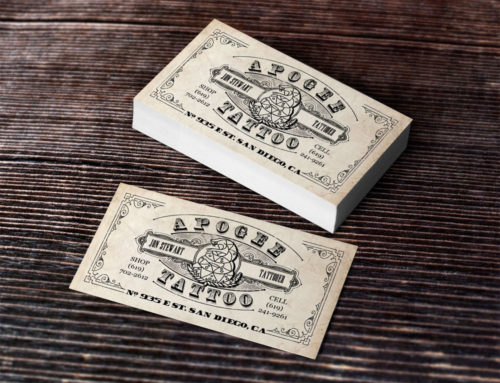 Apogee Tattoo Shop – Business Card